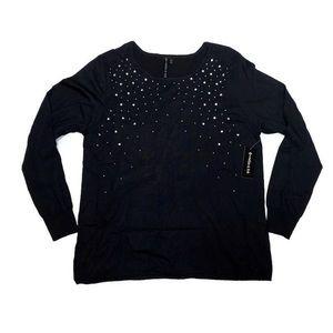 NWT Allie & Rob Sweater Black Gemstones